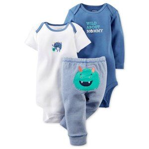 Carter's Baby Boy 3 PC Monster Mommy Outfit Set